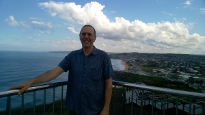 Graeme Stuart overlooking Merewether Beach, Newcastle, Australia