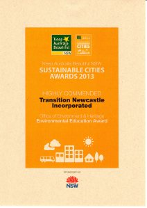 Sustainable Cities Award