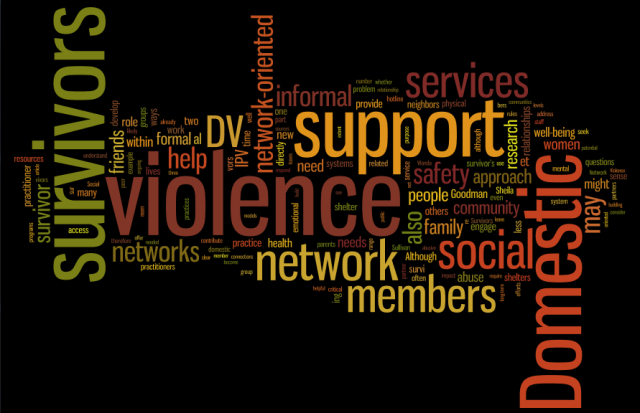 World for domestic violence social network approach