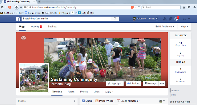 Sustaining Community facebook page