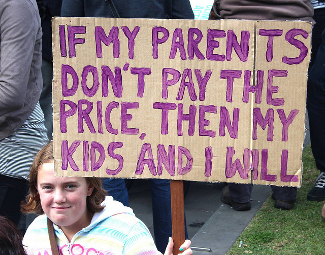 If my parents don't pay the price, then my kids and I will
