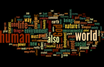 Word cloud of the Pope's encyclical