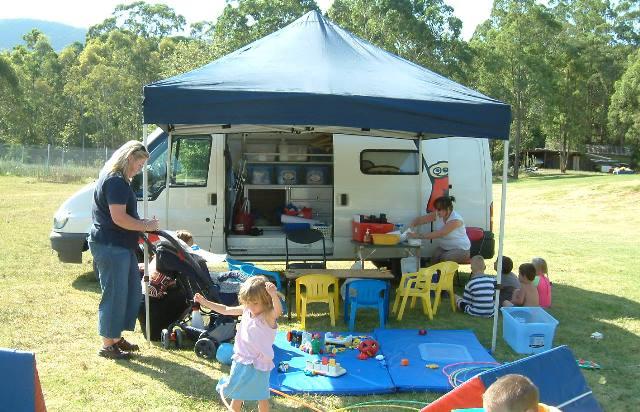 Caravan park childrens group