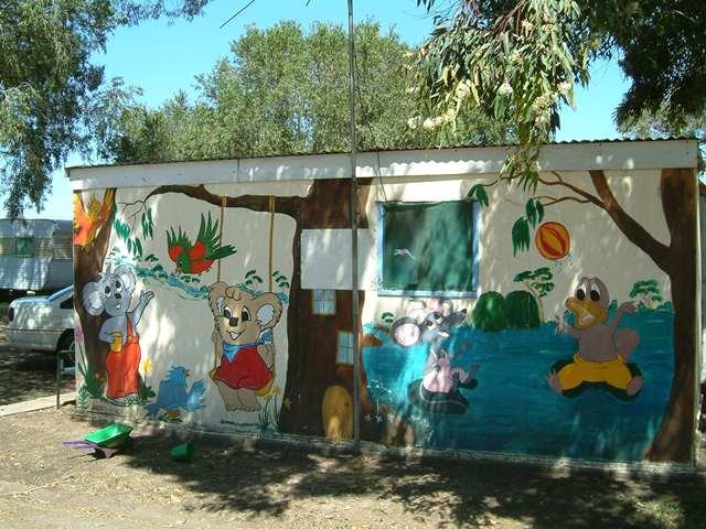 Caravan park mural