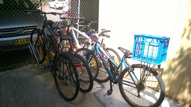 Bikes at the Family Action Centre