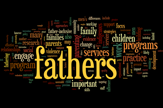 Engaging fathers Wordle