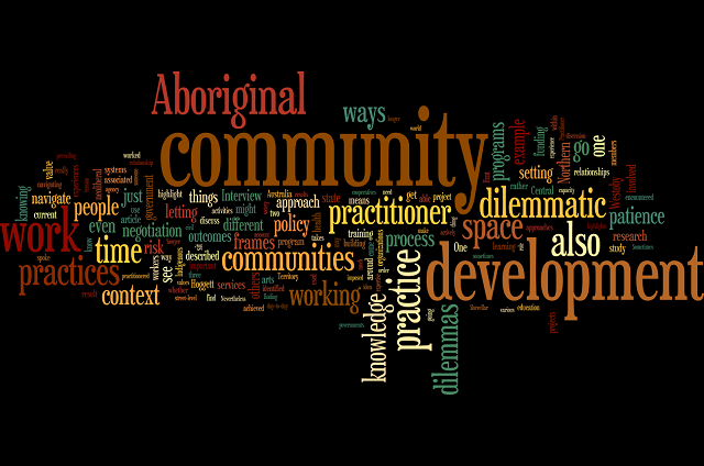 Navigating dilemmas of community development Wordle