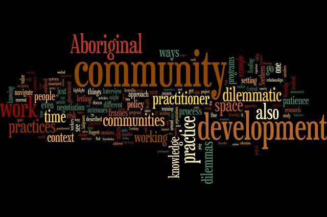Navigating dilemmas of community development Wordle