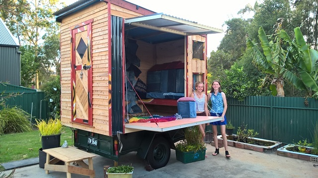 The tiny house in Larni's backyard