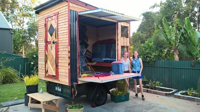 The tiny house in Larni's backyard