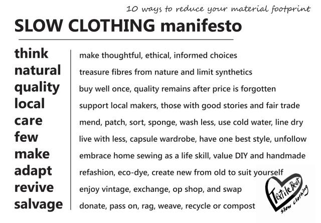 Slow clothing manifesto