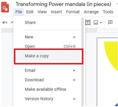 Save copy of Mandala 1