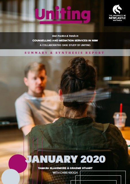 Best practice and trends in counselling and mediation services in NSW (cover of report)